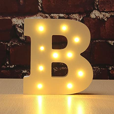 Amazon.com: Light Up Letters , Ephvan Light Up Wooden Alphabet ...
