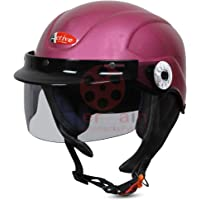 ACTIVE SOGO BIKE AND SCOOTY HALF FACE HELMET FOR MEN AND WOMEN (Medium, (PINK)