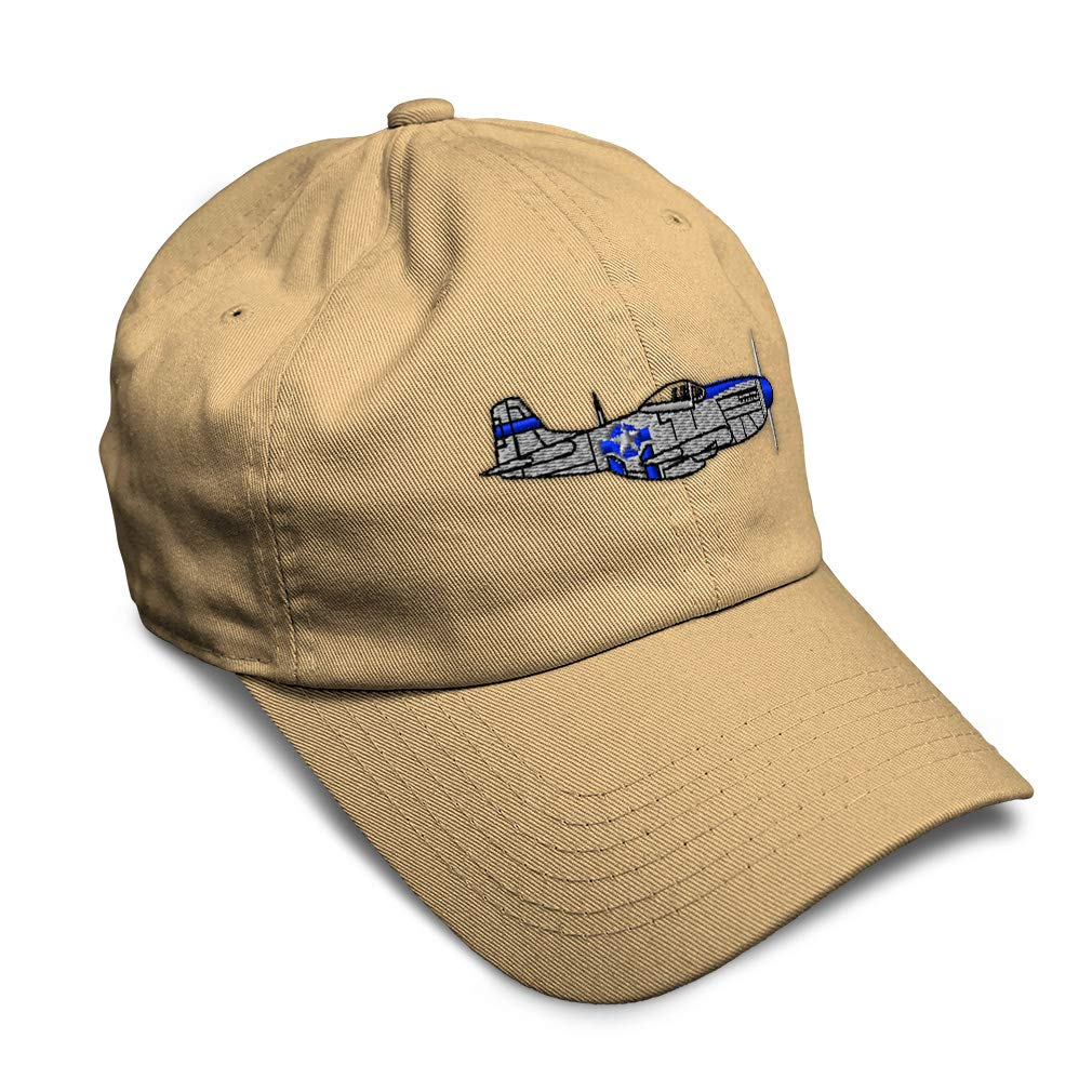 Custom Soft Baseball Cap Plane P-51 Style A Embroidery Dad Hats for Men /& Women