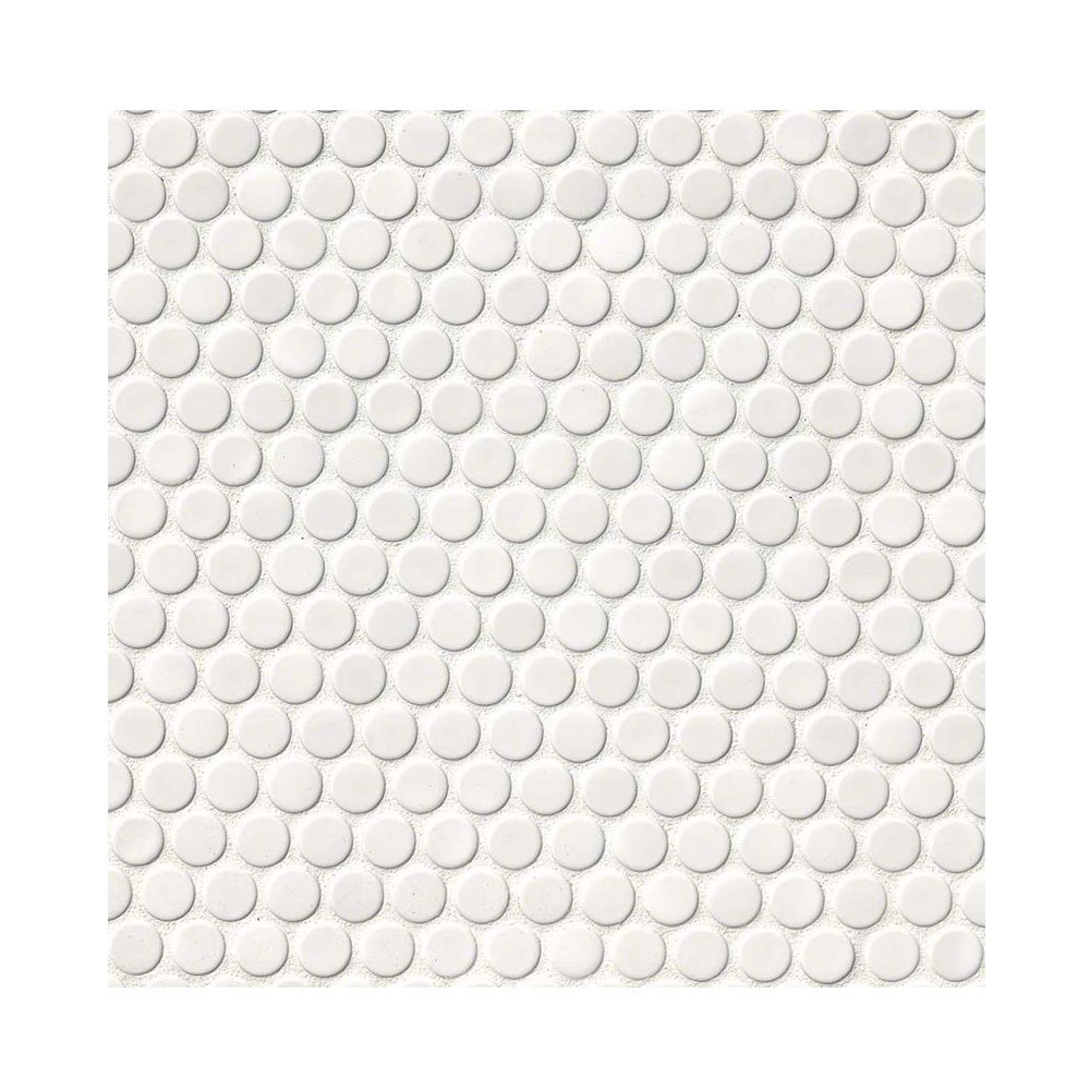 WHITE PENNY ROUND 6 in. X 36 in. 20 Pieces Per Box