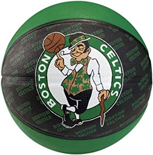 Spalding Boston Celtics Official Logo Improved Grip Rubber Outdoor Basketball by Spalding