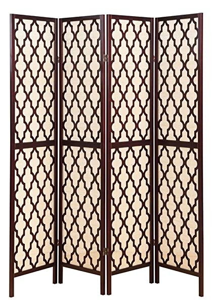 Amazoncom Legacy Decor 4 Panel Wooden Fabric In lay Screen Room