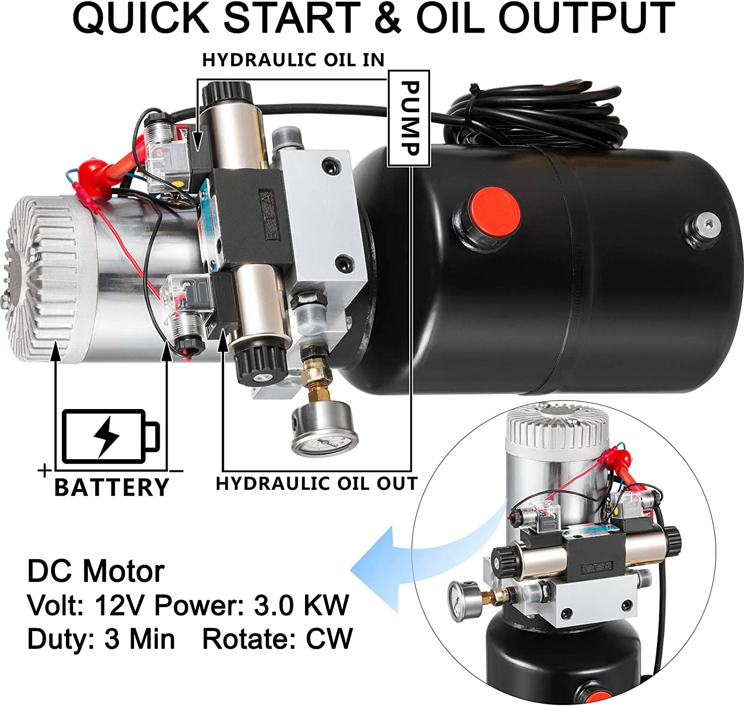 """Retracted 23 Extended 34/"""" Hydraulic Side Link Swivel Eye Bearing w//Check Valve for Tractors Top Link Hydraulic Cylinder 13/"""" Stroke Category 1 2 VEVOR Double Acting Hydraulic Cylinder 2/"""" Bore"""