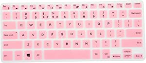 "Leze - Ultra Thin Silicone Laptop Keyboard Cover Skin Protector for 11.6"" Dell Inspiron 11-3162 11-3168 11-3169 11-3179 i3162 i3168 i3169 i3179 Laptop - Pink"