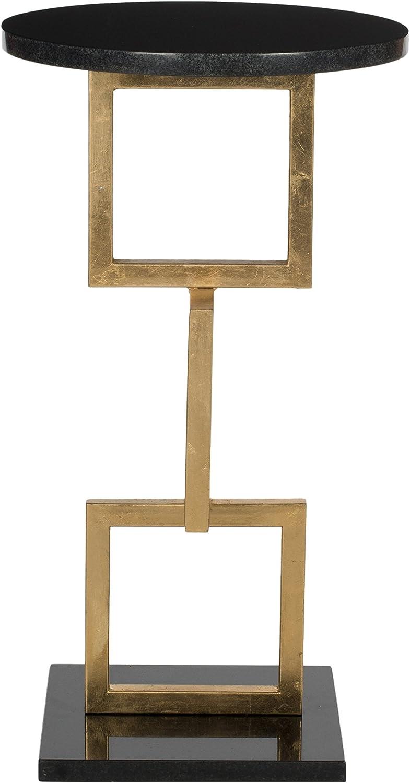 Metall Gold//schwarz marmorplatte 31 x 31 x 58.92 cm Safavieh Akzenttisch