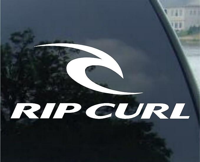 Rip curl decal surf skate board truck window sticker amazon co uk car motorbike