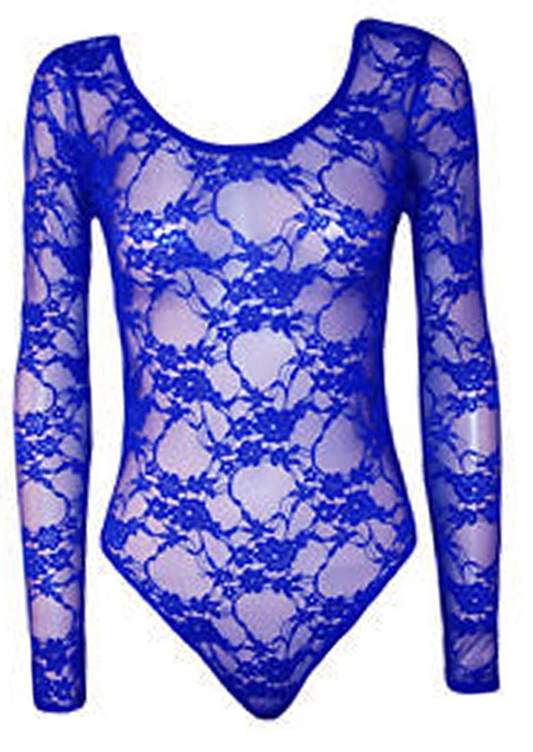 Comfiestyle Womens Ladies Plus Size Mesh Insert Lace Leotard Bodysuit Body con Top 8 to 26