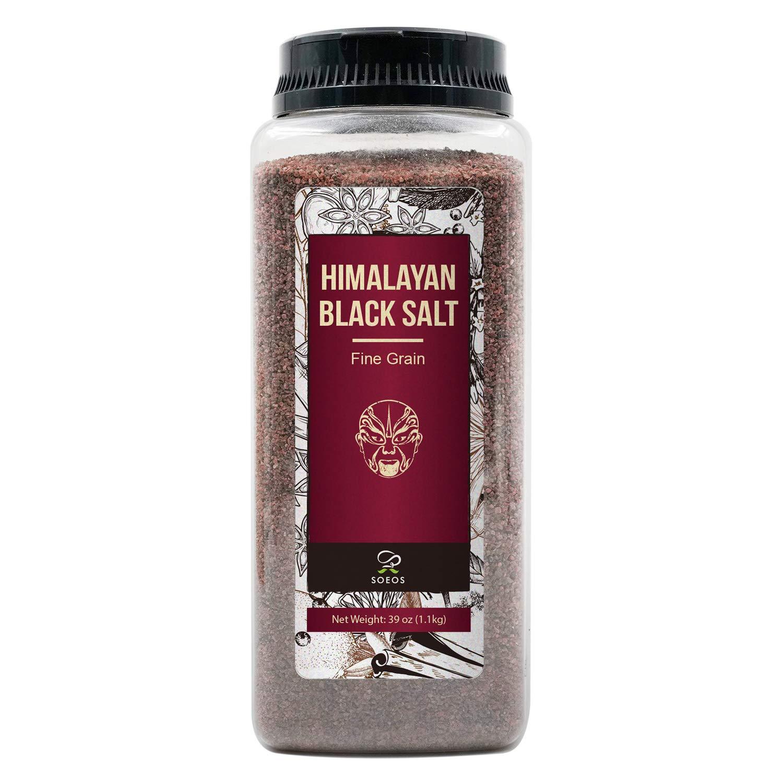 Himalayan Black Salt 2.4LB, Fine Black Himalayan Salt.