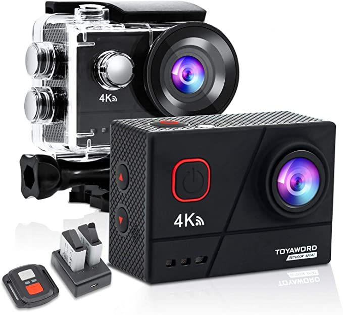 Toyaword Action Cam Real 4k 60fps 20mp Sports Camera Photo
