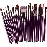 Longra 20 Stück / Set 8 Farben Make up Sets Werkzeuge Make-up Toilettenartikel Ausrüstung Wolle Make up Pinsel Set