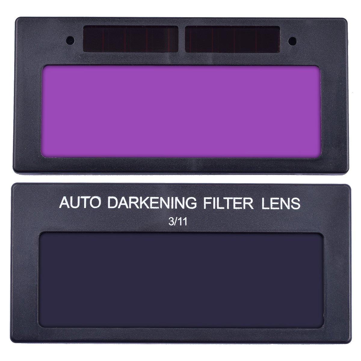 Auto-Darkening Horizontal Filter 【The Best Deal】OriGlam Solar Auto Darkening Welding Helmet Lens Filter Shade Mask Lens Automation Filter Shade Eyes Lens