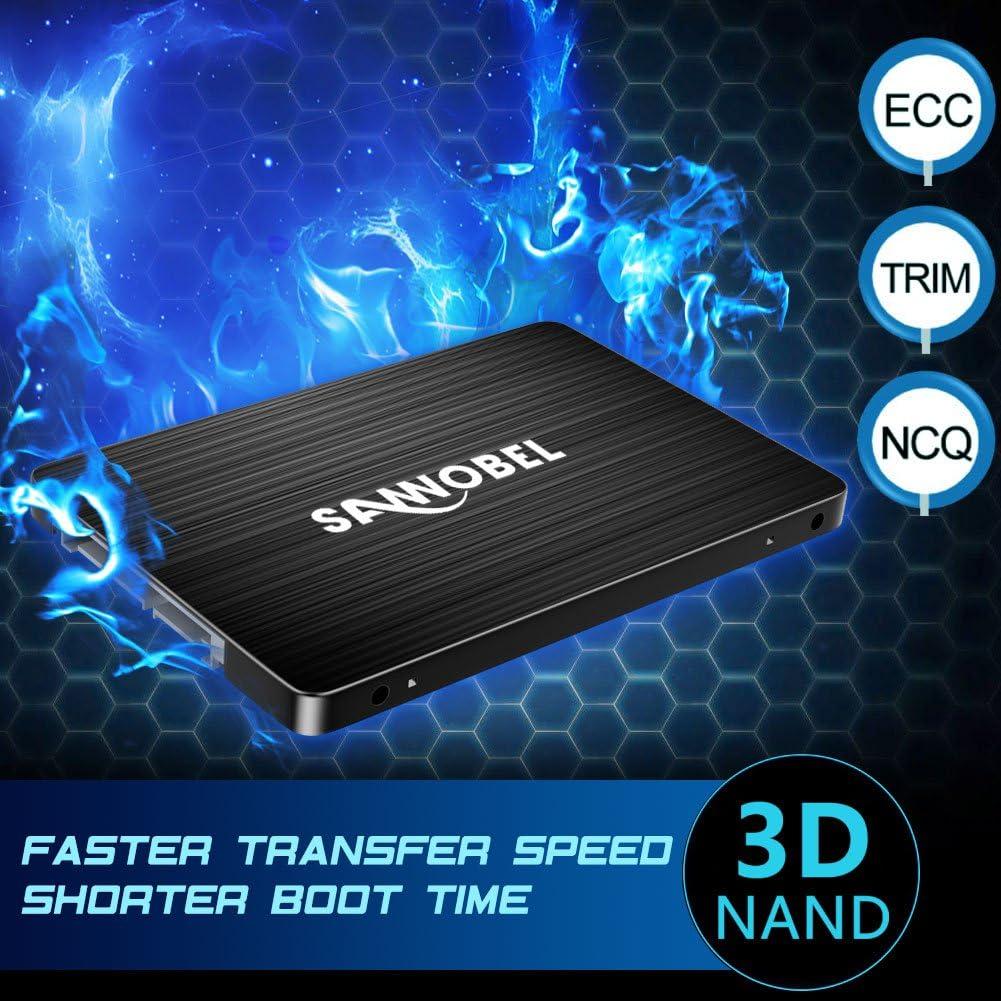 SANNOBEL 3D TLC NAND Disco duro sólido interno SSD 512GB 2.5 ...