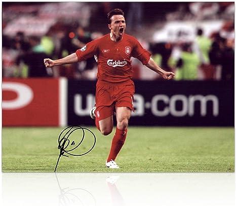 Milagro de Estambul Liverpool Vladimir Smicer firmó fotografía ...