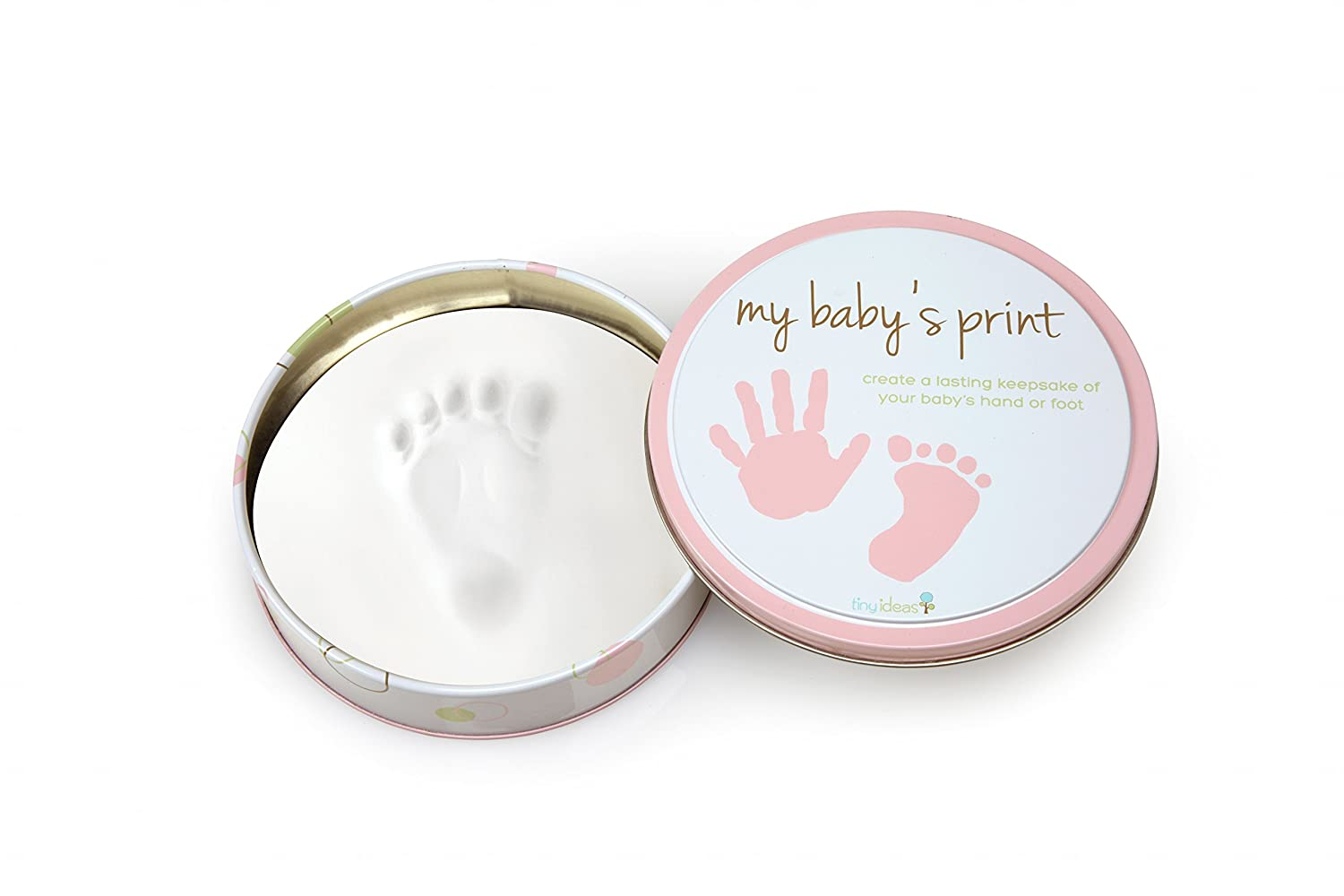 Tiny Ideas Easy to Use Handprint Tin, Pink 96146