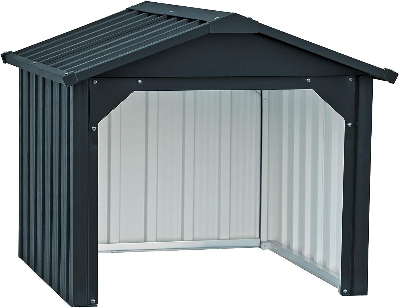 Duramax Mower Metal Garage | Cortacésped Trasero Cerrado y Estaciones de Carga de batería | Hecho de Acero galvanizado en Caliente | Impermeable y protección UV Robot cortacésped Carport, Antracita