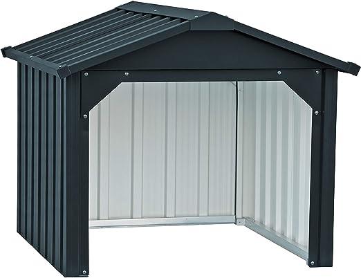 Duramax Mower Metal Garage | Cortacésped Trasero Cerrado y Estaciones de Carga de batería | Hecho de Acero galvanizado en Caliente | Impermeable y protección UV Robot cortacésped Carport, Antracita: Amazon.es: Jardín