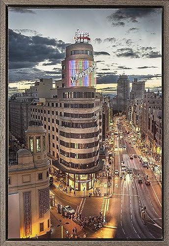 Cuadro enmarcado - Cuadro del Edificio Carrión (Schwepps) de la Gran Vía de Madrid - Fotografía artística y