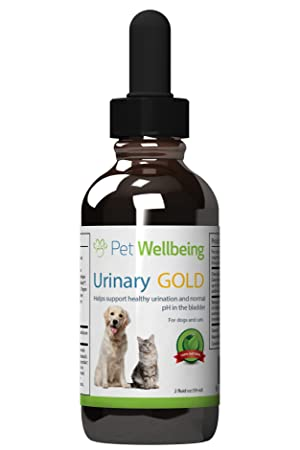 Pet Wellbeing Urinaria De Oro Para Los Gatos - Soporte Natural Para La Salud Del Tracto Urinario Felino - 2 Oz (59 Ml): Amazon.es: Productos para mascotas