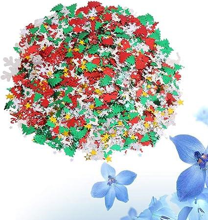 Iridescent Snowflake Confetti Sequins Christmas Crafts Party Romantic Decor Cuts