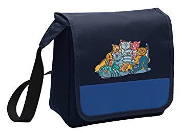 Gato gatos de hombro bolsa para el almuerzo caja de almuerzo: Amazon.es: Hogar