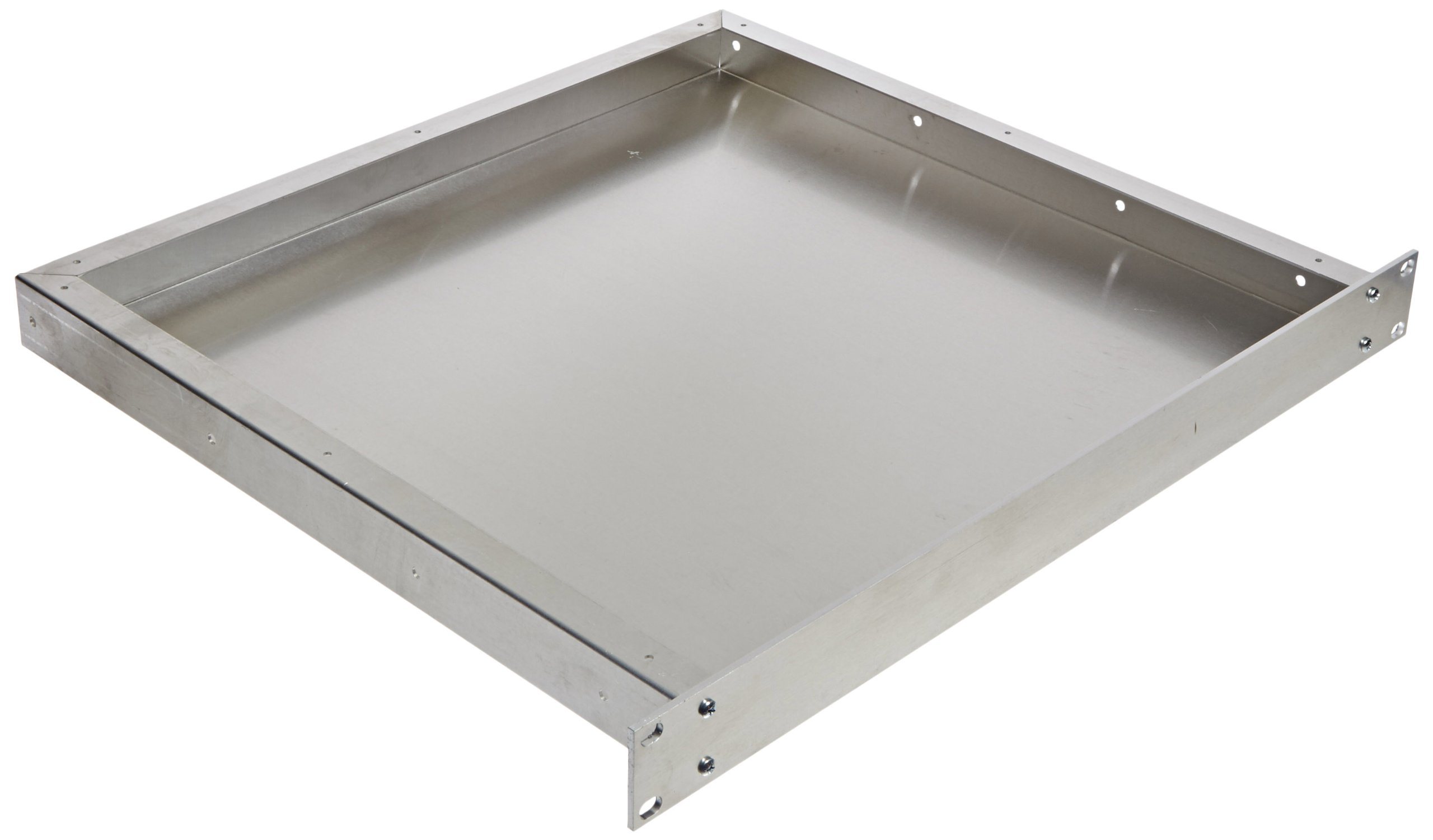 BUD Industries CH-14402 Aluminum Small Rack Mount Chassis, 17'' Width x 1-3/4'' Height x 16'' Depth, Natural Finish