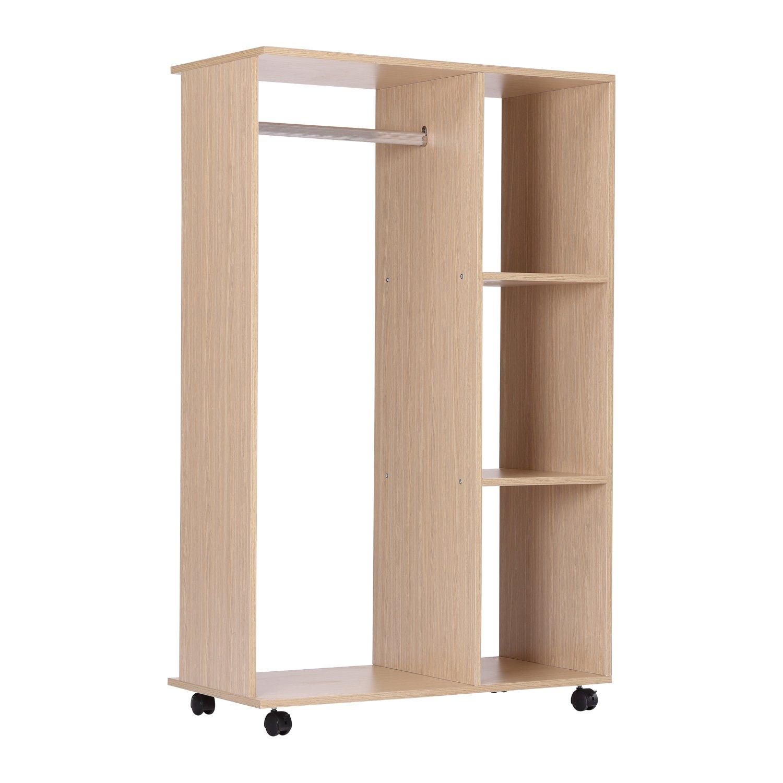 latest armoire penderie armoire de rangement amovible barre en panneaux de particules e with. Black Bedroom Furniture Sets. Home Design Ideas