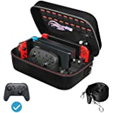 iVoler Carrying Storage Case for Nintendo Switch/Switch OLED Model (2021), Portable Travel All Protective Hard Messenger Bag