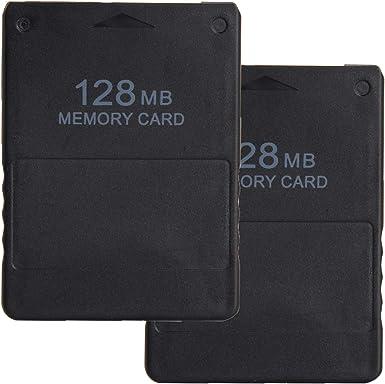 LEAGY 2 Paquetes Tarjeta de Memoria de 128MB para Sony Playstation 2 PS2: Amazon.es: Videojuegos