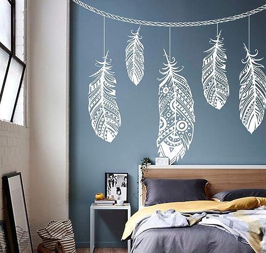 Wall Decal Sticker Bedroom Dreamcatcher Feather Beautiful Kids Nursery Room Decor Idea 392b