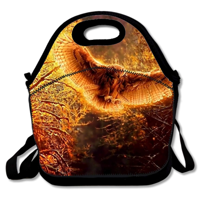 Isolierte Lunchtasche mit Reißverschluss und abnehmbarem Schultergurt, Neopren, Forest Forest Forest Animal1, Einheitsgröße B07GQLMLG4 Damenhandtaschen Moderate Kosten 026228