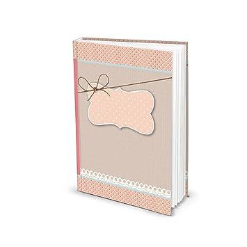 De color rosa roja en blanco de libros vacía einsch - Cuaderno ...