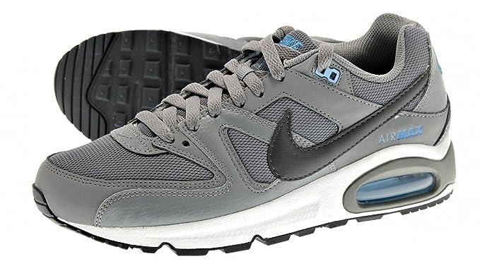 bas prix bf1ef 6f417 Nike BASKET AIR MAX COMMAND LEATHER GRIS BLEU: Amazon.fr ...