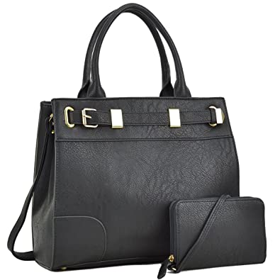 166a5142ef6e Image Unavailable. Image not available for. Color  Dasein Women Designer  Satchel Handbags Purses Shoulder Bag Work Briefcase with Matching Wallet Set