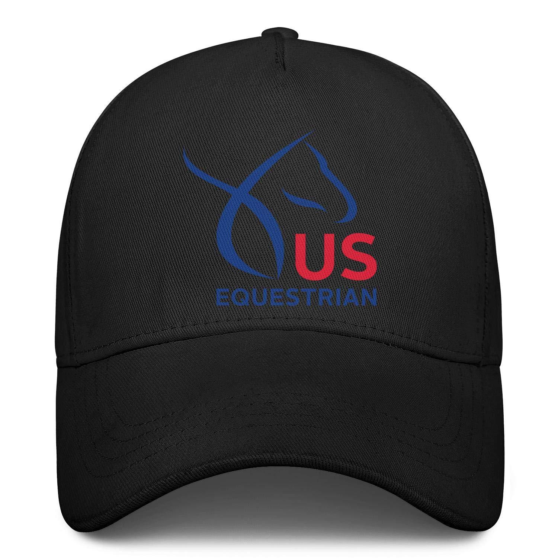 United States Equestrian Federation Logo Snapback Hat Hip Hop Rugged Men Baseball Cap