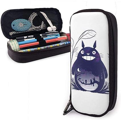 Estuche de lápices Gran capacidad Bolígrafo de almacenamiento grande Estuche de lápices Organizador de escritorio Práctico portabolsa con cremallera - Mi vecino Totoro: Amazon.es: Oficina y papelería