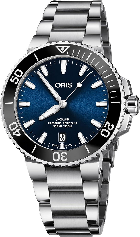 Oris Aquis 01 733 7732 4135-07 8 21 05PEB Reloj automático de acero inoxidable con esfera azul