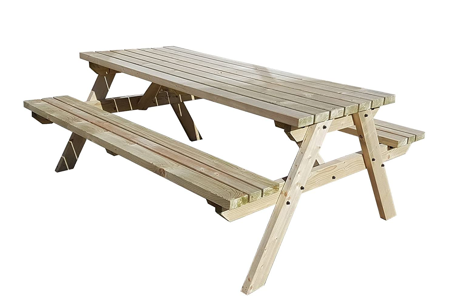 FORTEM Traditional Pub and Garden Style Bench - Commercial Grade - Heavy  Duty - Pressure Treated - Handmade Wooden Outdoor Furniture in UK - Light