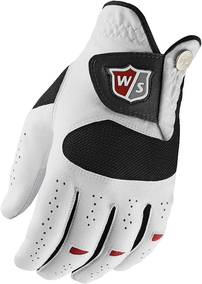 Wilson W/S Dual Performance Mlh Guantes de Golf, Hombre, Blanco ...