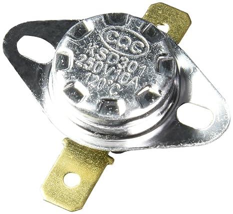 2 Piezas 120C Normal Cerrado Temperatura Controlado Termostato KSD301 250V 10A