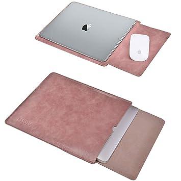90102b685c TECOOL 13 Pouce Housse pour Ordinateur Portable, Laptop Sleeve Housse de  Protection Cuir PU Étui