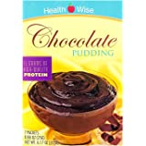 Healthwise - Double Chocolate High Protein Pudding Mix for Any Diet - 15 Grams of Protein - 90 Calories - One Gram of Fat - H