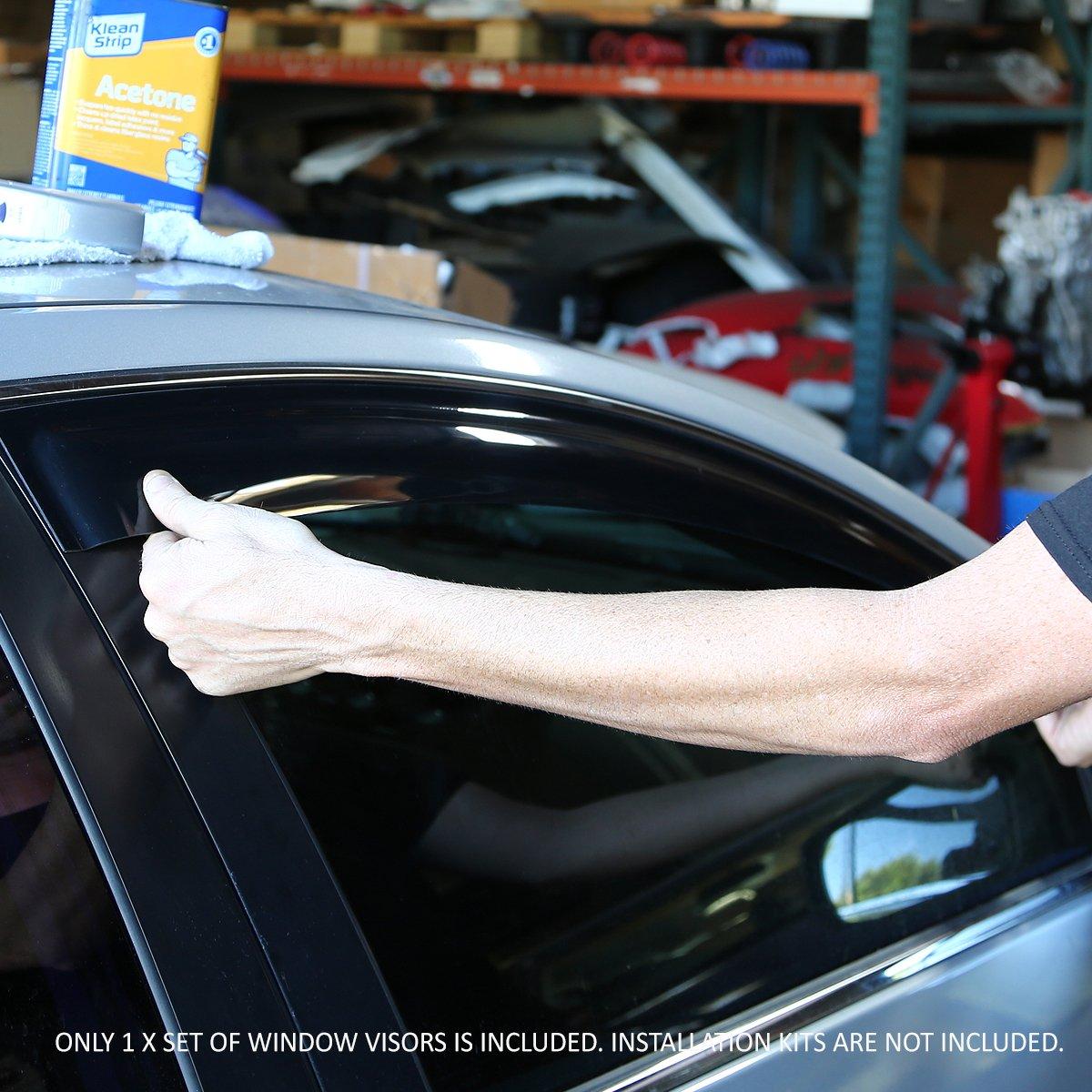 For Ford E150-350 Econoline Super Duty 2pcs In-Channel Window Visor Deflector Rain Guard
