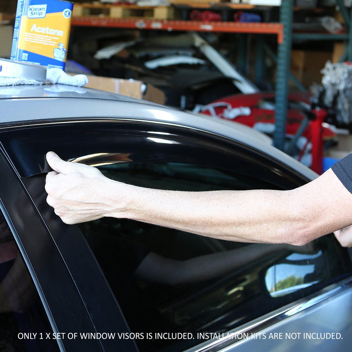 For Honda Civic 4DR ES 4pcs Tape-On Window Visor Deflector Rain Guard
