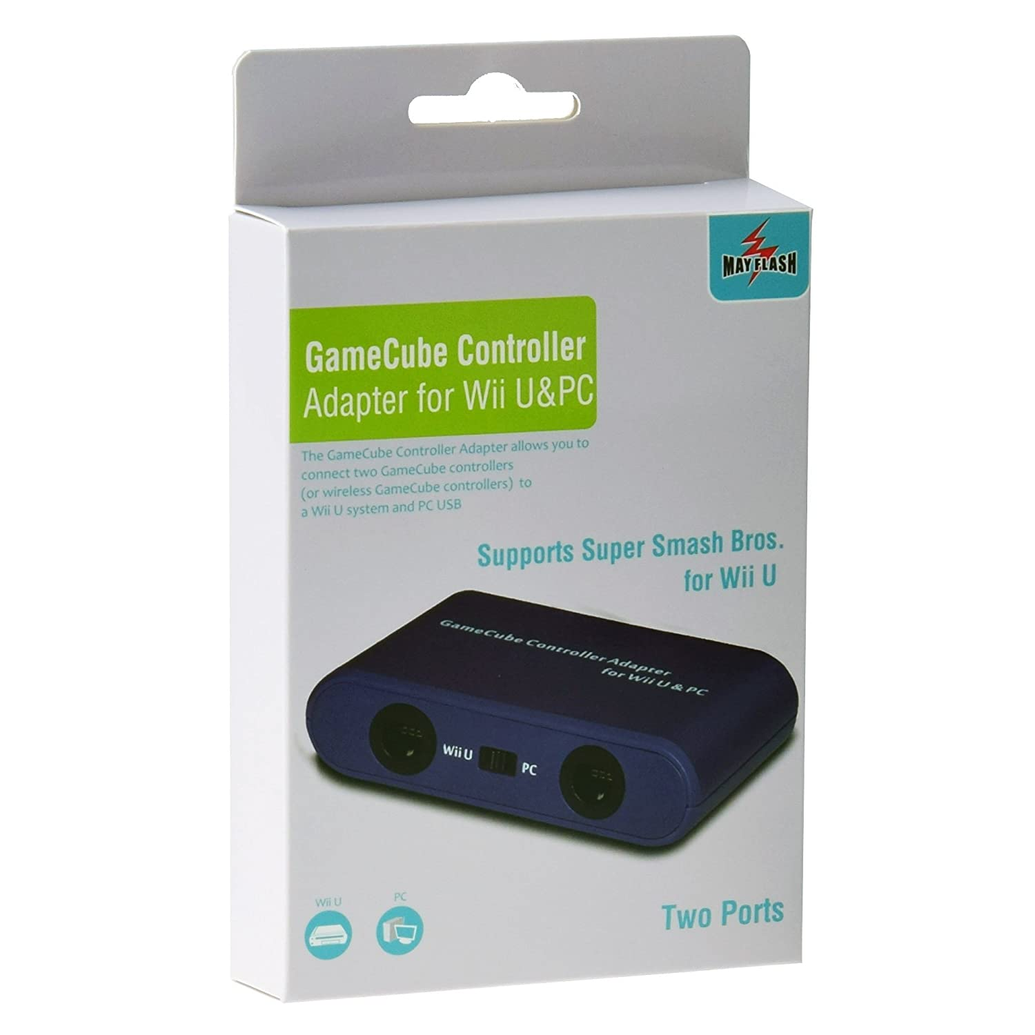 GameCube Controller Adapter for Wii U & PC: Amazon.co.uk: Electronics