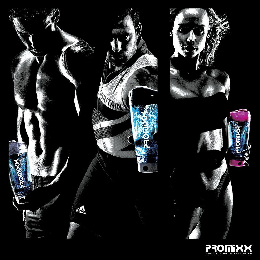 PROMiXX (2018 Model) - The Original Vortex Mixer | Beautifully Engineered High-Torque Battery-Powered Protein Shaker Bottle with X-Blade Technology | 600ml/20oz (Black) by Promixx (Image #3)