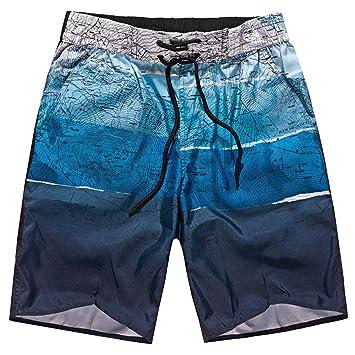 LuckyGirls Hombre Pantalones Corta de Playa Estampado Bloque de Color Pantalón de Running Surf Deportes Casual Pants Chándal: Amazon.es: Deportes y aire ...