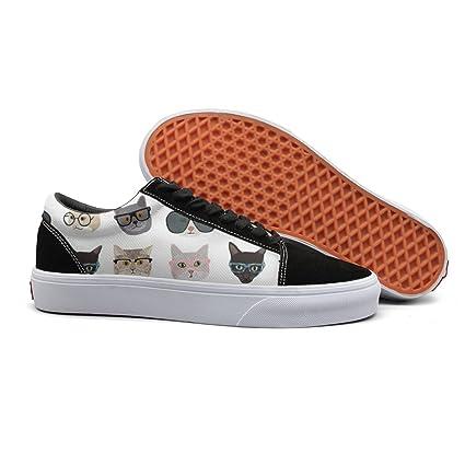 Armsttm Women Skate Shoes Cats Art Print Classic Suede Sneaker