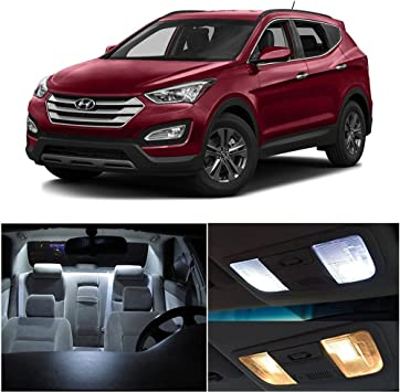 for Hyundai New Santa Fe Car Interior LED Bulb Super Bright Extremely Bright Lights Replacement Bulbs for Map Dome Door Courtesy License Plate White 9Pcs