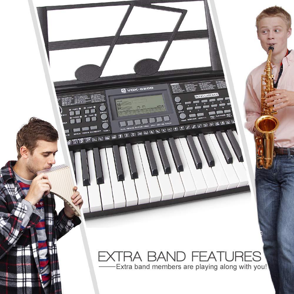 Electronic Piano Keyboard, 61 Light up Keys Portable with Smart LCD Display, 3 Teaching Mode, 40 Demo Songs, Piano Gig Bag by Vangoa (Image #5)