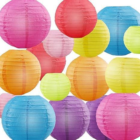 paper lanterns urbest decorative paper lanterns rainbow colors 4
